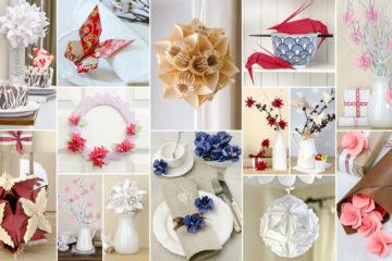 Fabriquer des objets décoratifs en origami